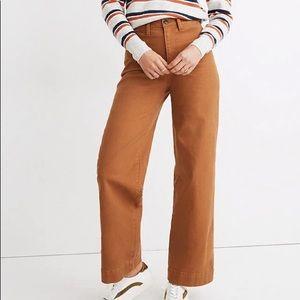 Madewell Curvy Emmett Wide Leg Pants NWT